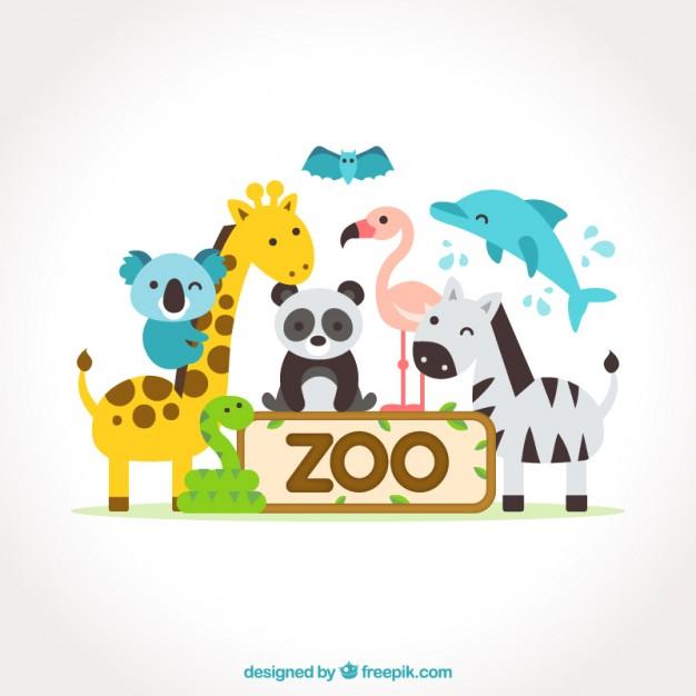 626x626 Nice Flat Animals Zoo Vector Premium Download