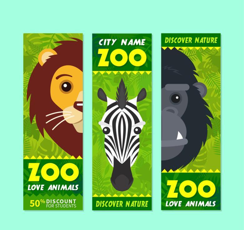 782x737 The Lion Zebra Orangutan 3 Discount Banner Zoo Vector Free