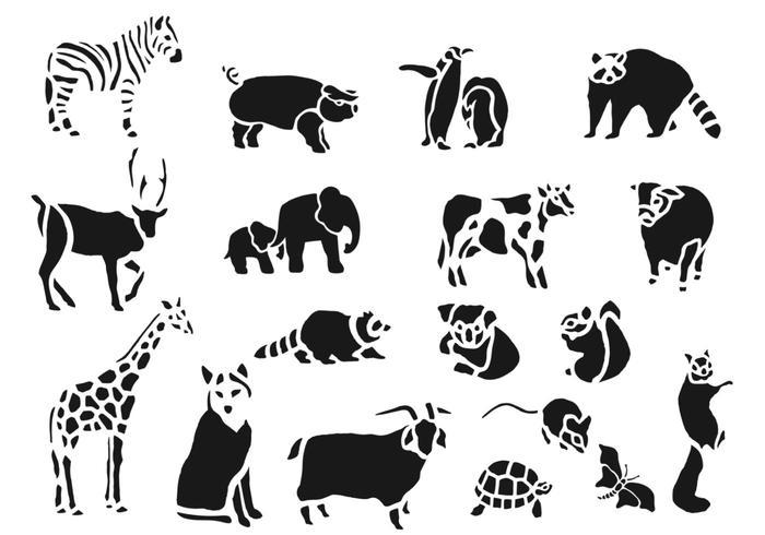700x490 Zoo Animal Vector Pack
