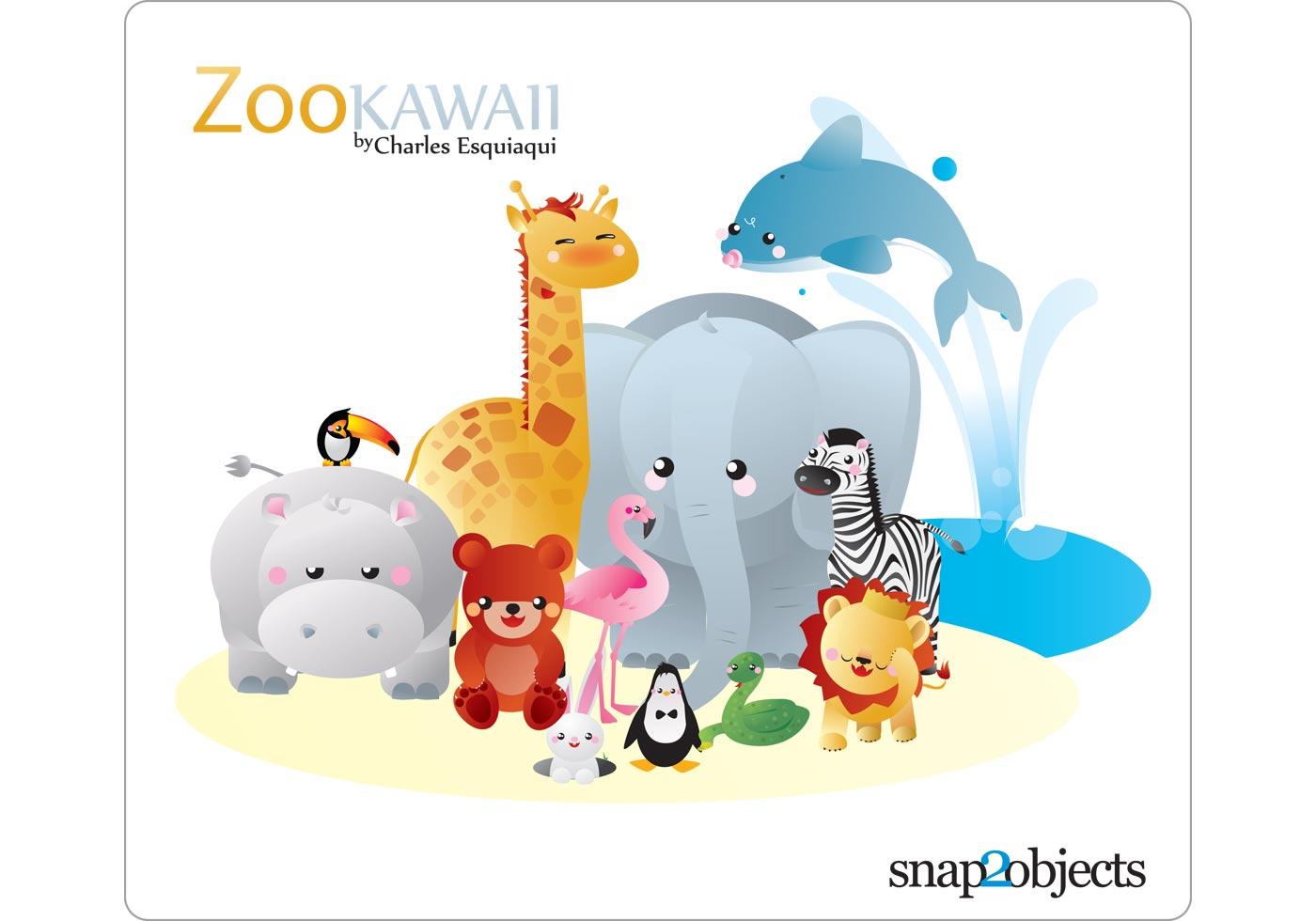 1400x980 Zoo Free Vector Art
