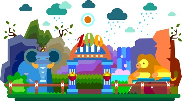 600x333 Zoo Free Vector Download (82 Free Vector) For Commercial Use
