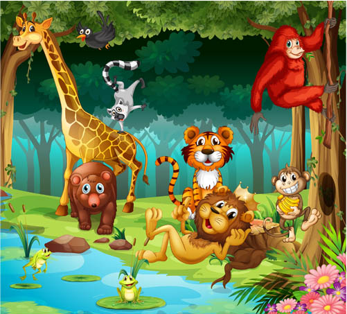 501x453 Animals In Zoo Vector 2 Ai Format Free Vector Download