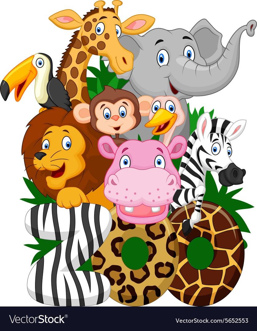 837x1080 Cartoon Collection Animal Of Zoo Vector 5652553 1