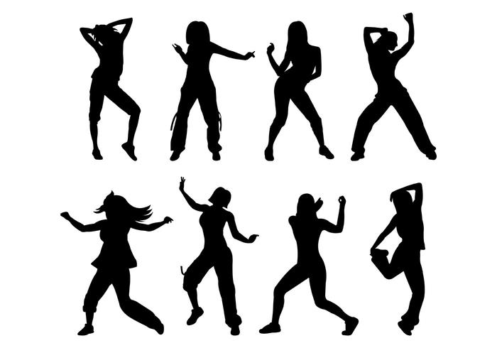 700x490 Vector Silhouette Of Zumba Motion