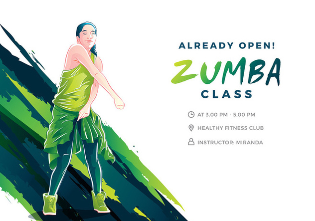 632x443 Zumba Illustration Cool Free Vector Free Vector Download 408875