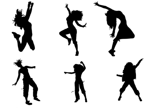 632x443 Zumba Silhouette Vectors Free Vector Download 336201 Cannypic