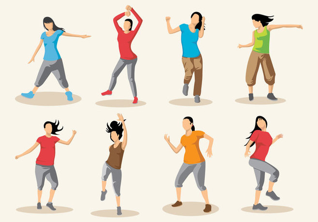632x443 Free Zumba Dance Vector Free Vector Download 397457 Cannypic