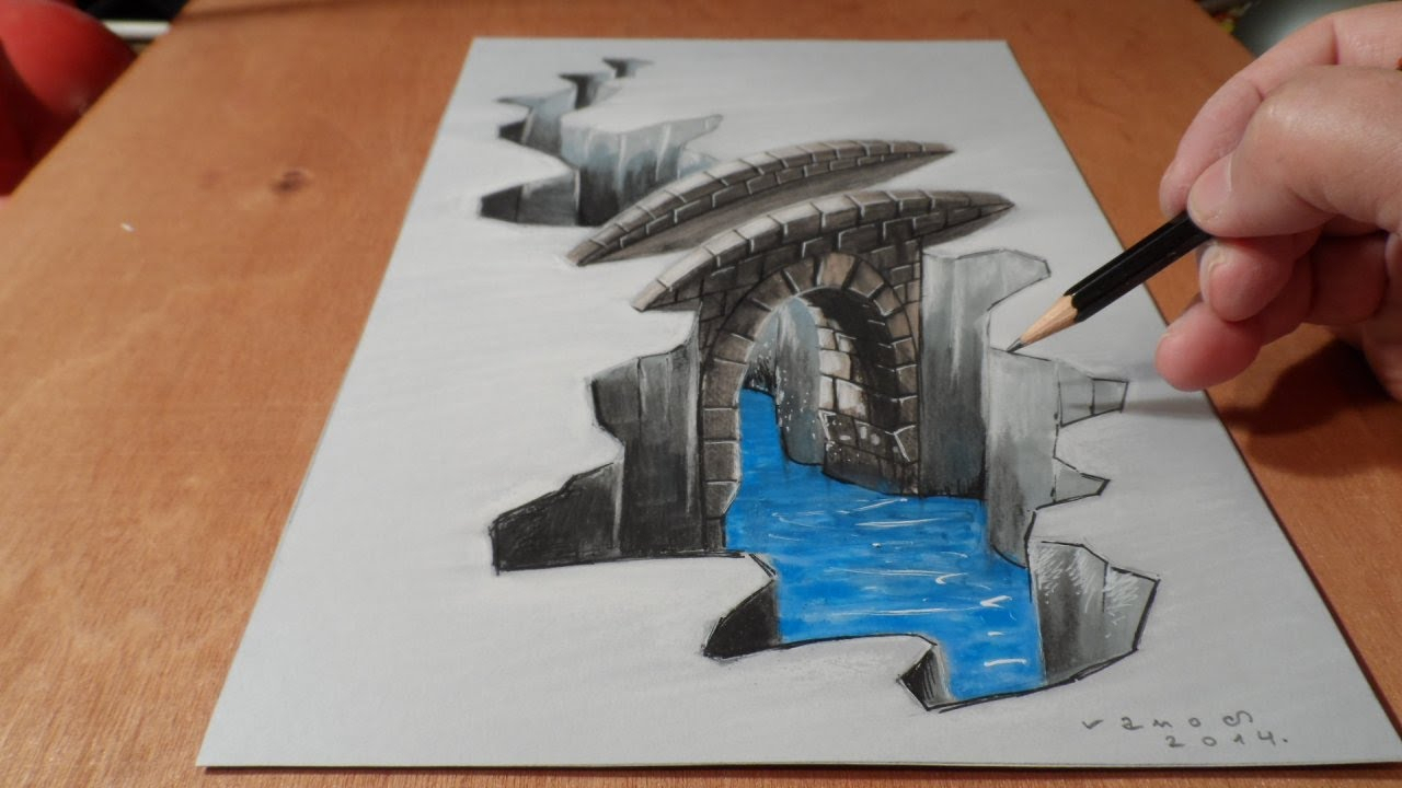 1280x720 Easy 3d Paintings On Paper Easy 3d Painting Illusion On Paper With