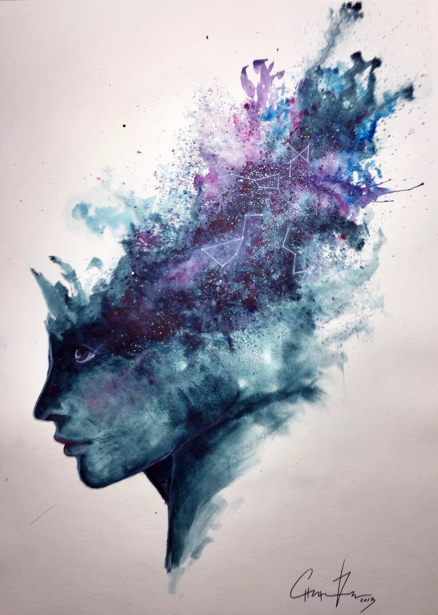 1536x2158 Abstract Watercolor Painting Awesome Watercolor Abstract Portrait