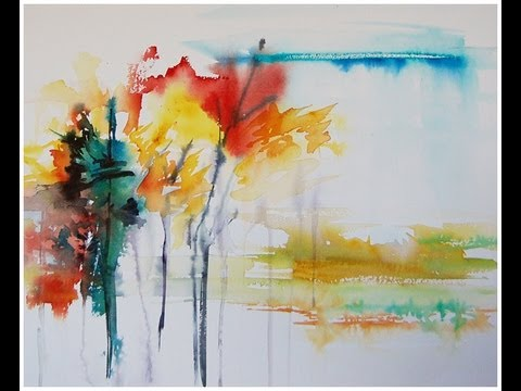 480x360 Paint An Abstract Landscape In Watercolor!