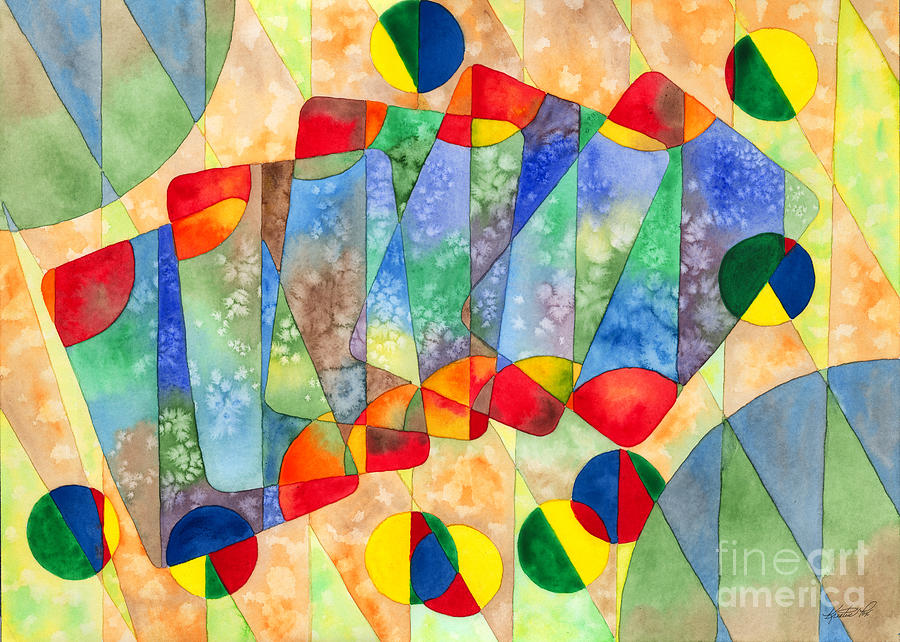 900x642 Poker Abstract Watercolor Painting By Kristen Fox