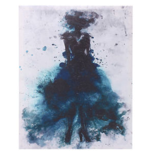 300x300 Watercolor Fashion Girl Abstract Art Canvas Print Oil Painting