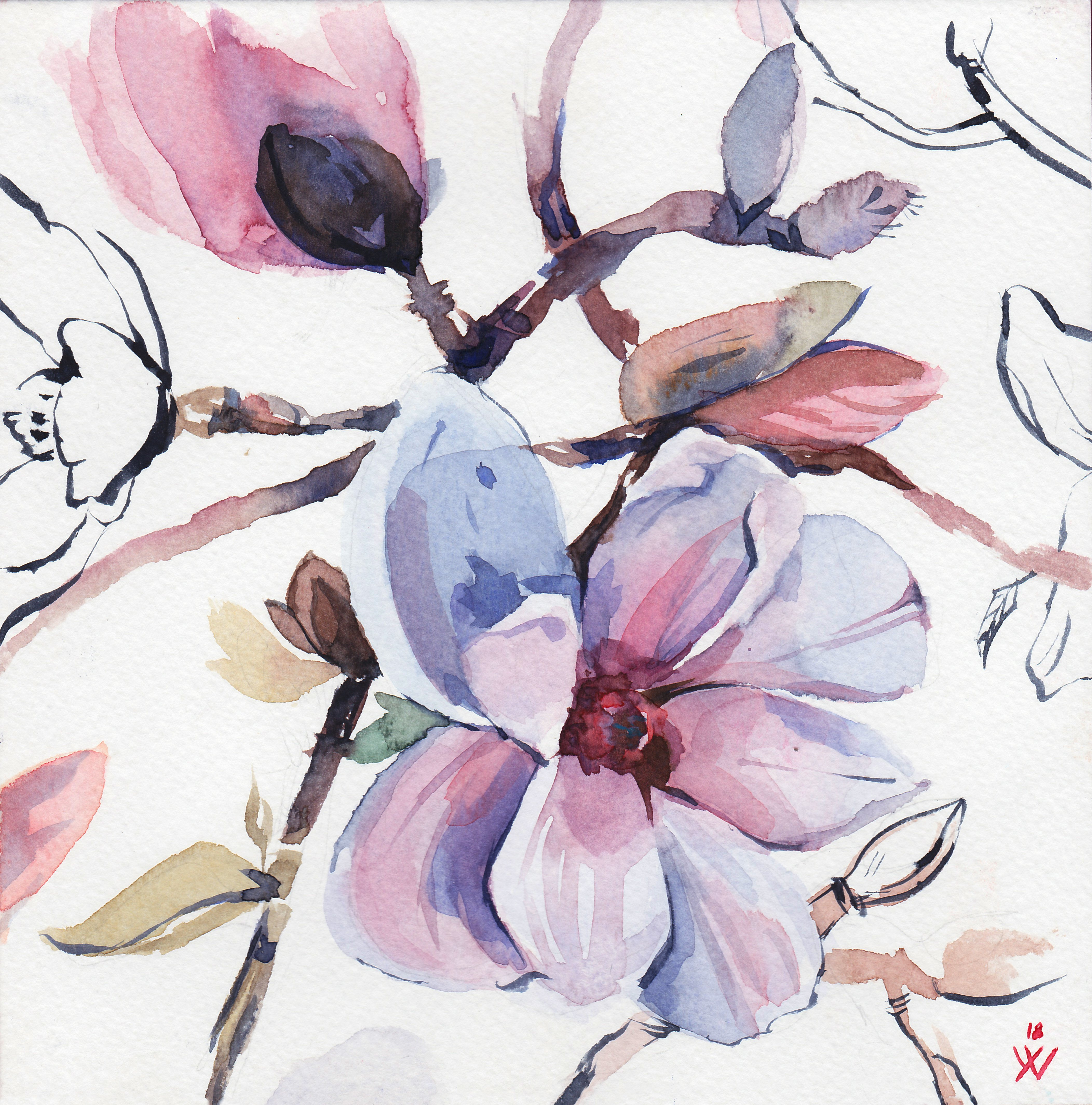 4207x4255 Blush Pink Watercolor Art, Blush Wall Art, Bedroom Wall Art