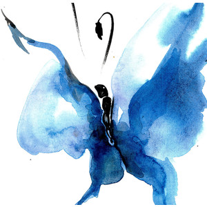 Abstract Butterfly Watercolor