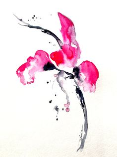 Abstract Flower Watercolor