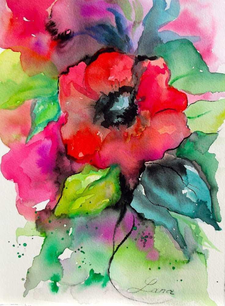 736x1002 Abstract Watercolor Painting Beautiful Abstract Watercolor
