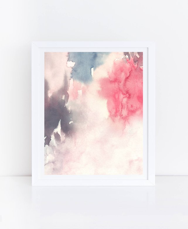 642x785 Abstract Flowers Watercolor Flowers Abstract Printable Wall Etsy