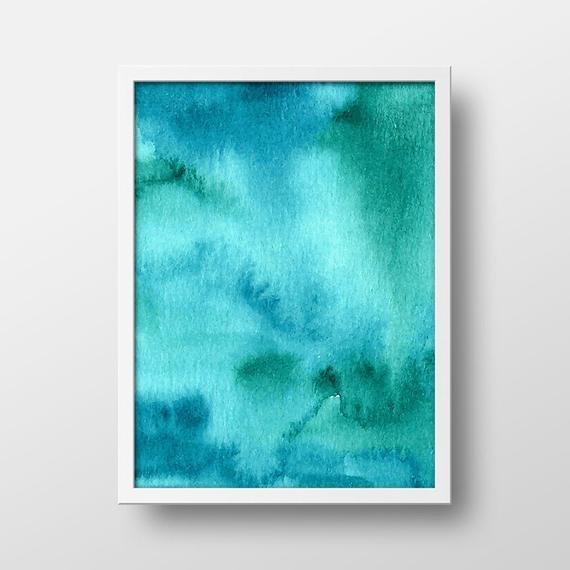 570x570 Turquoise Abstract Art Print, Modern Art Print, Abstract Wall