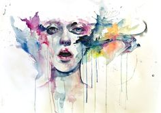 Abstract Watercolor Face