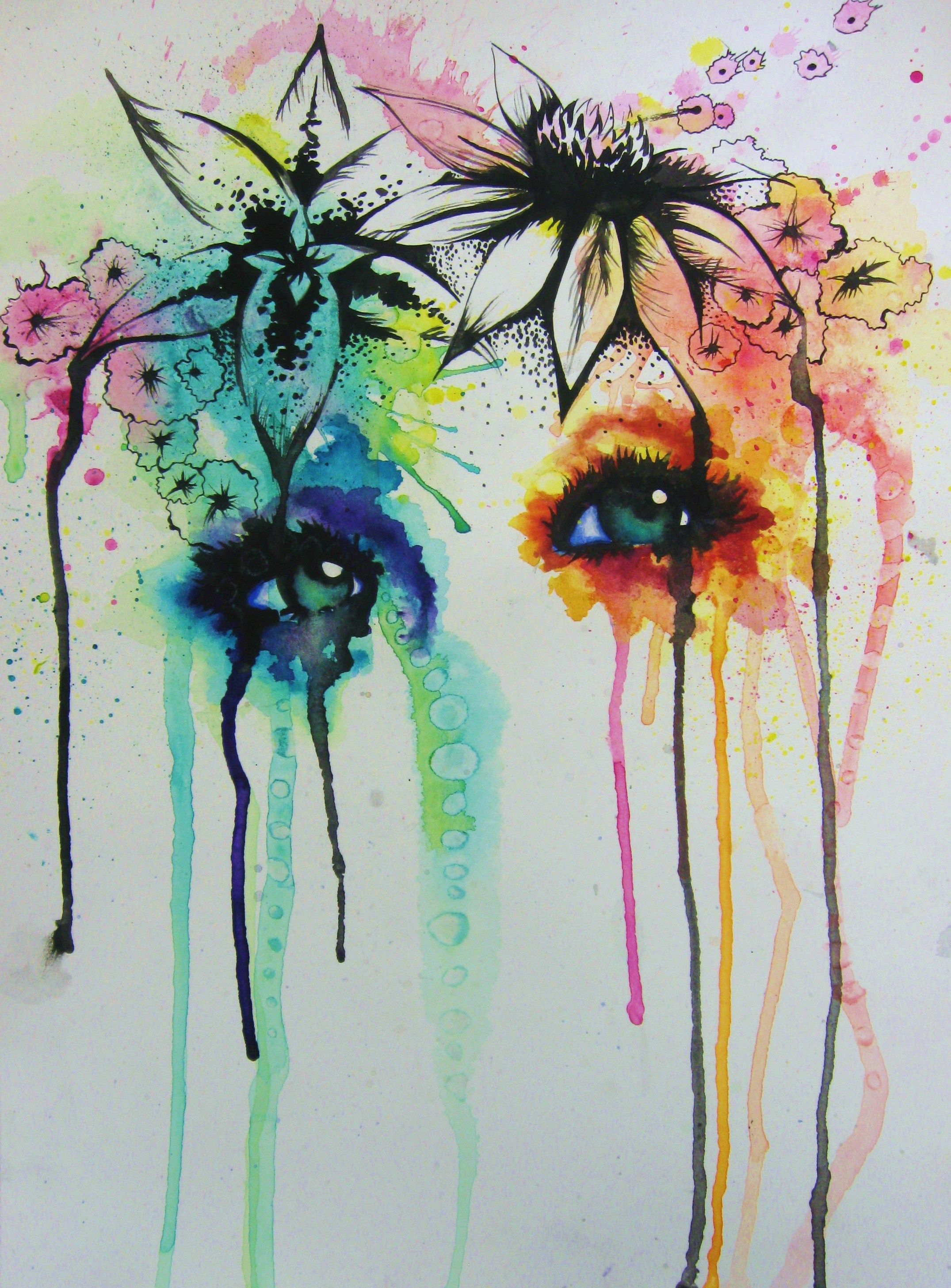2151x2914 Spring Abstract Watercolor Face Art By Me Abstract