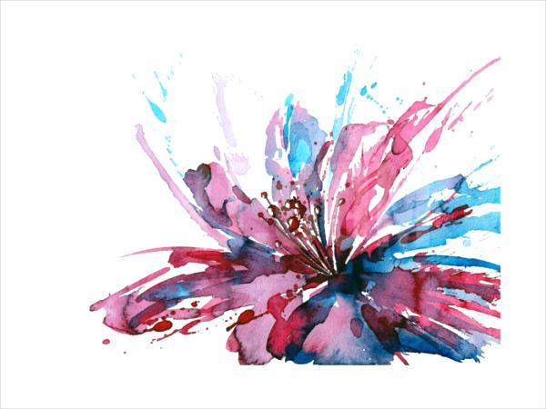600x450 Abstract Watercolor Flowers Abstract Watercolor Flower Painting