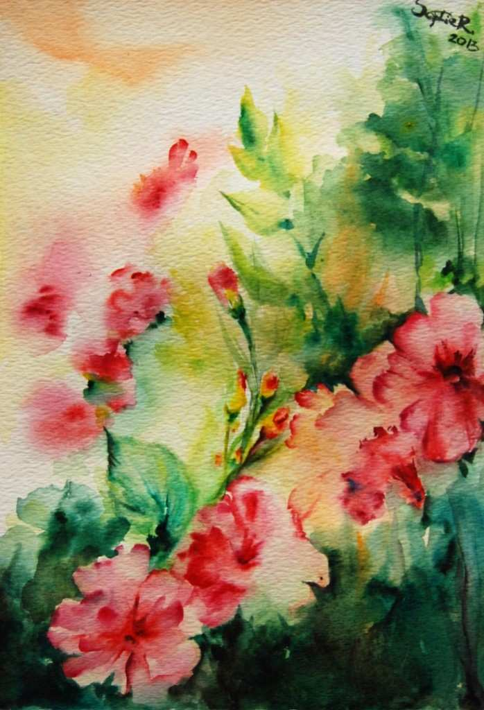 698x1024 Abstract Flower Painting Luxury Abstract Watercolor Paintings