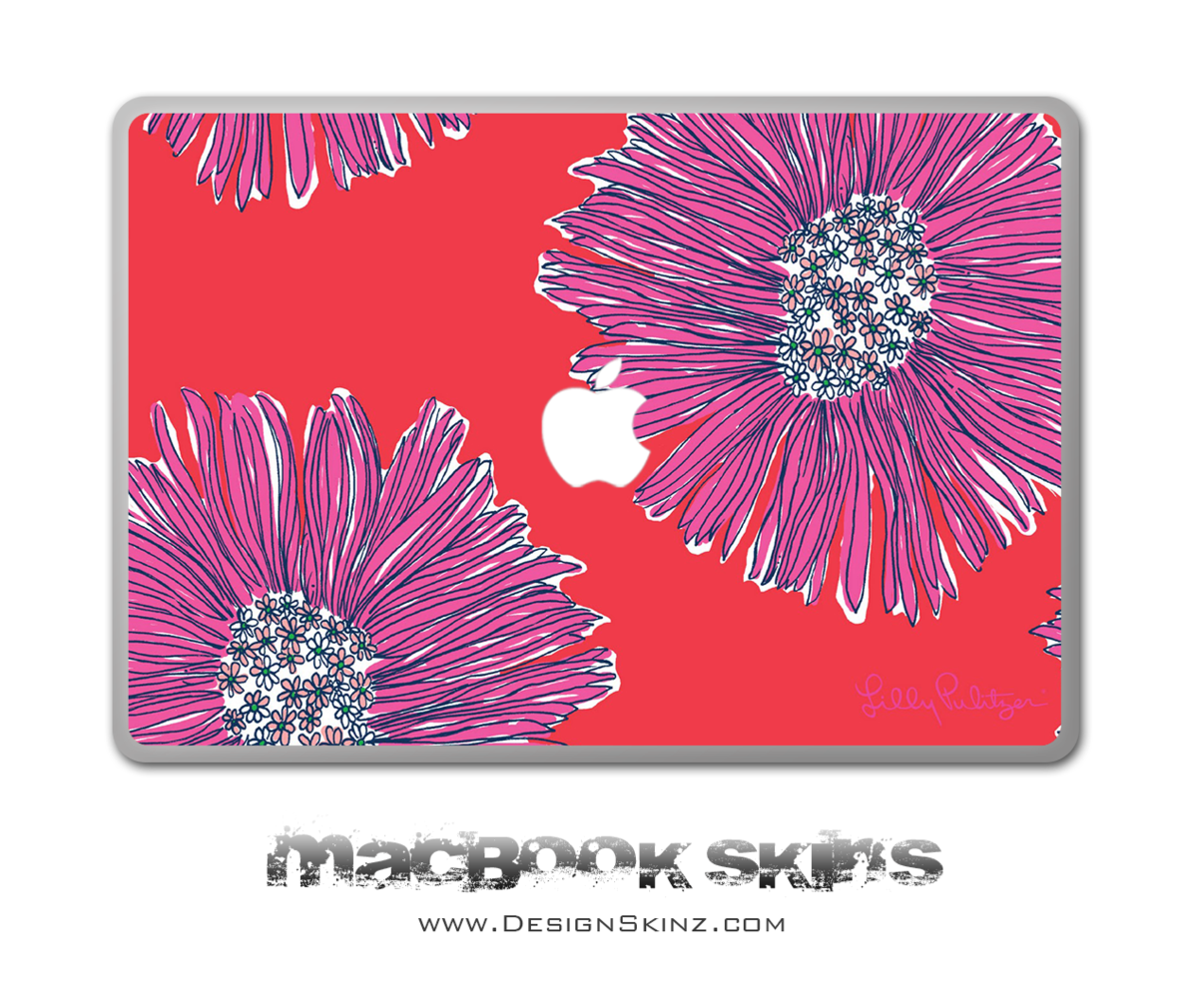 1200x1010 Abstract Watercolor Flowers Macbook Skin