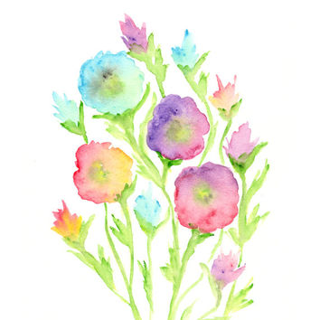 354x354 Best Abstract Watercolor Flower Paintings Products On Wanelo