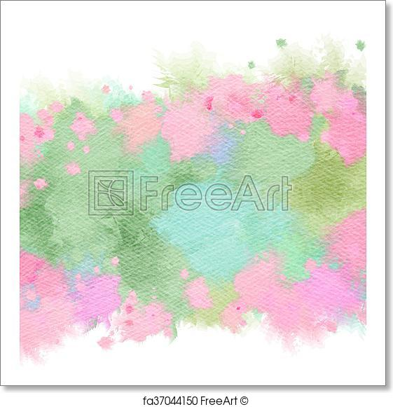 561x581 Free Art Print Of Abstract Watercolor Flowers Frame. Abstract