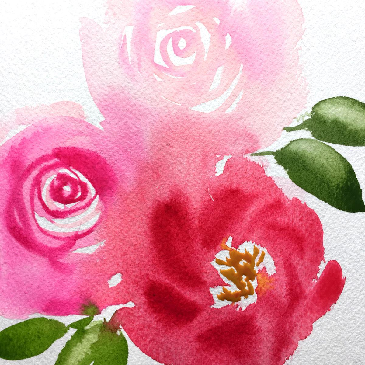 1200x1200 How To Paint Abstract Watercolor Flowers Custom Watercolor