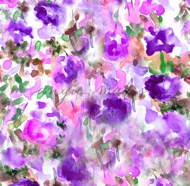 613x600 Abstract Watercolor Floral Background Landscape