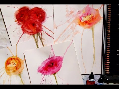 480x360 Abstract Watercolor Flowers Color Burst Workshop Preview