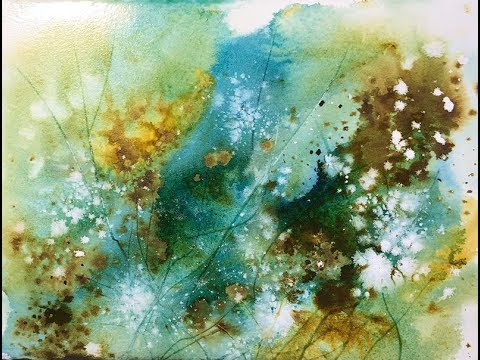 480x360 Abstract Watercolor Landscape