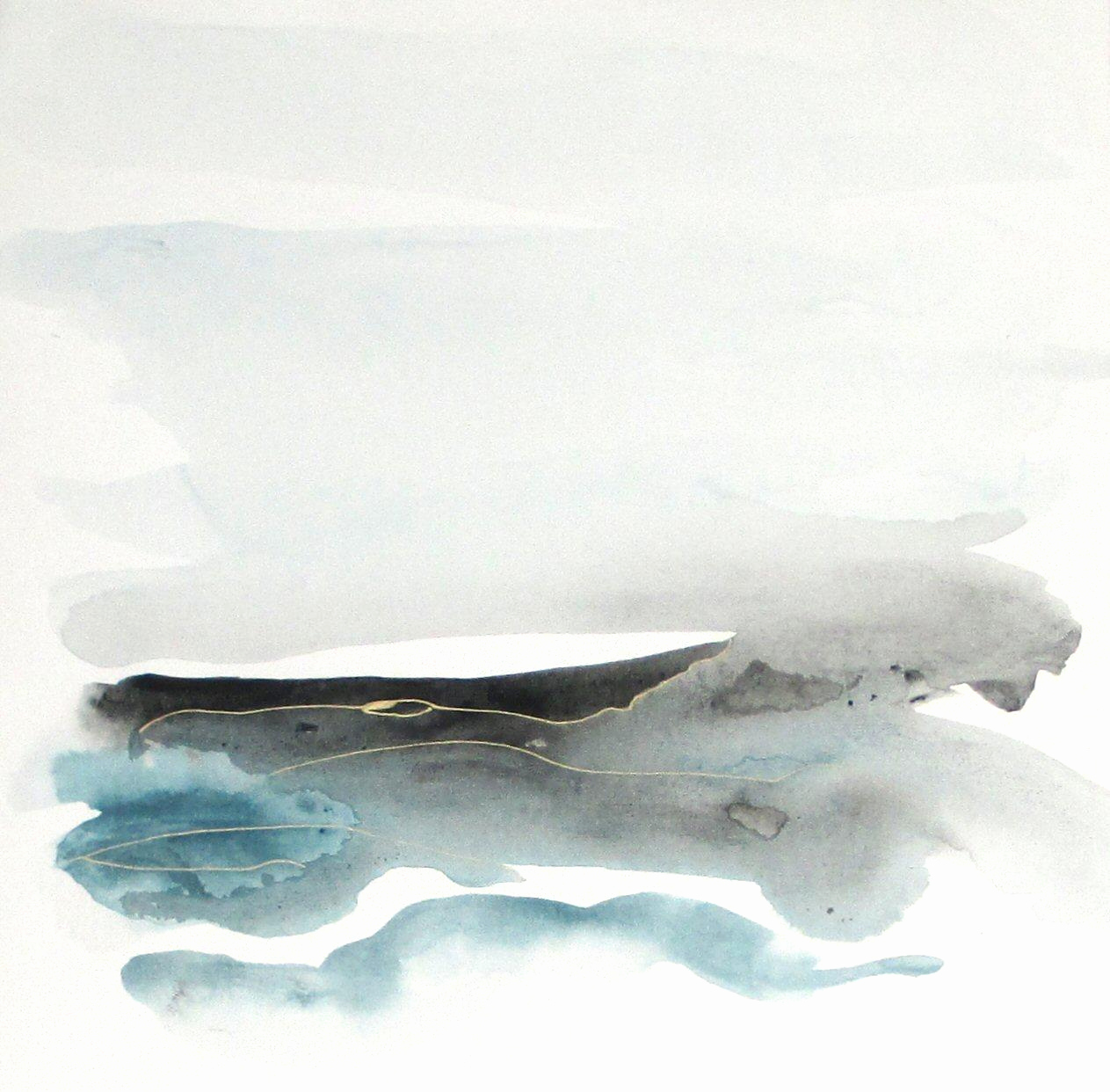 1263x1242 Abstract Watercolor Landscape Inspirational Original Contemporary