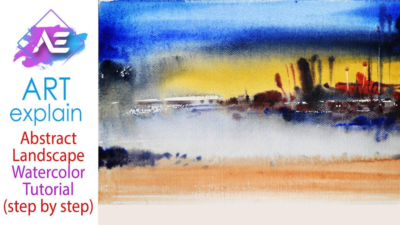 1280x720 Abstract Watercolor Painting Demonstration How To Paint A