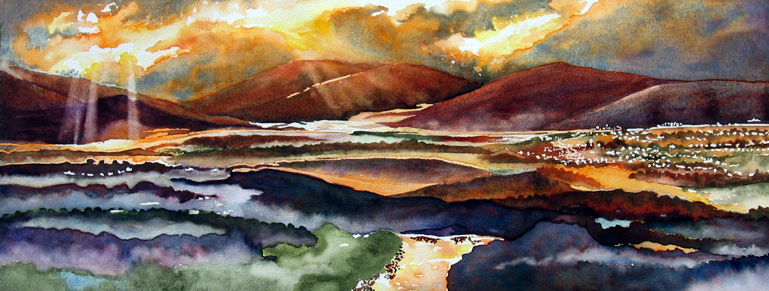 1500x568 Fun With A Watercolor Landscape Leslie White