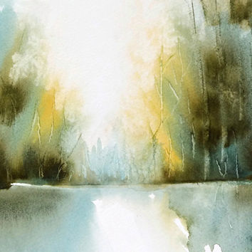 354x354 Landscape Abstract Watercolor