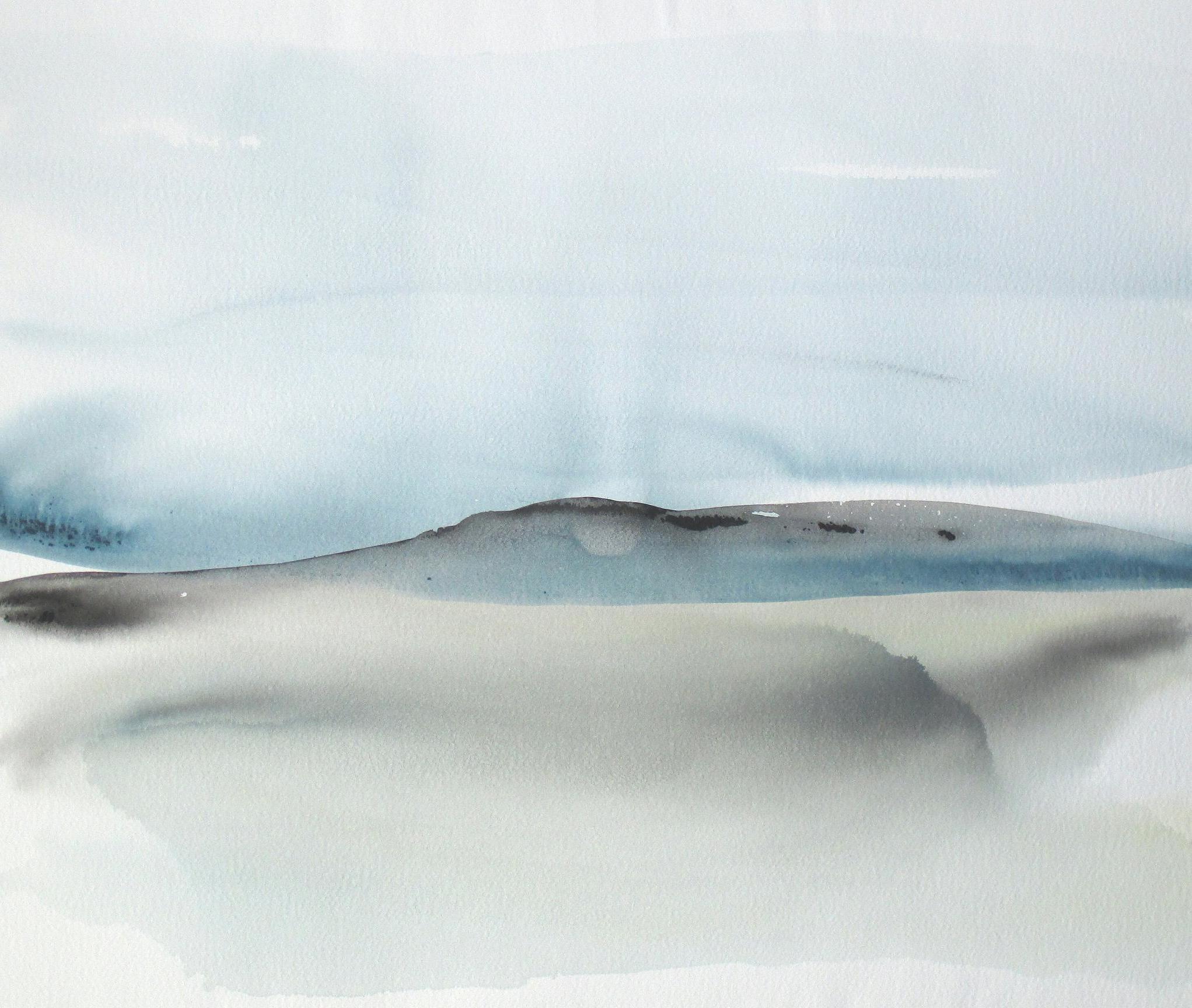 2043x1728 Original Contemporary Abstract Seascape Landscape Watercolor
