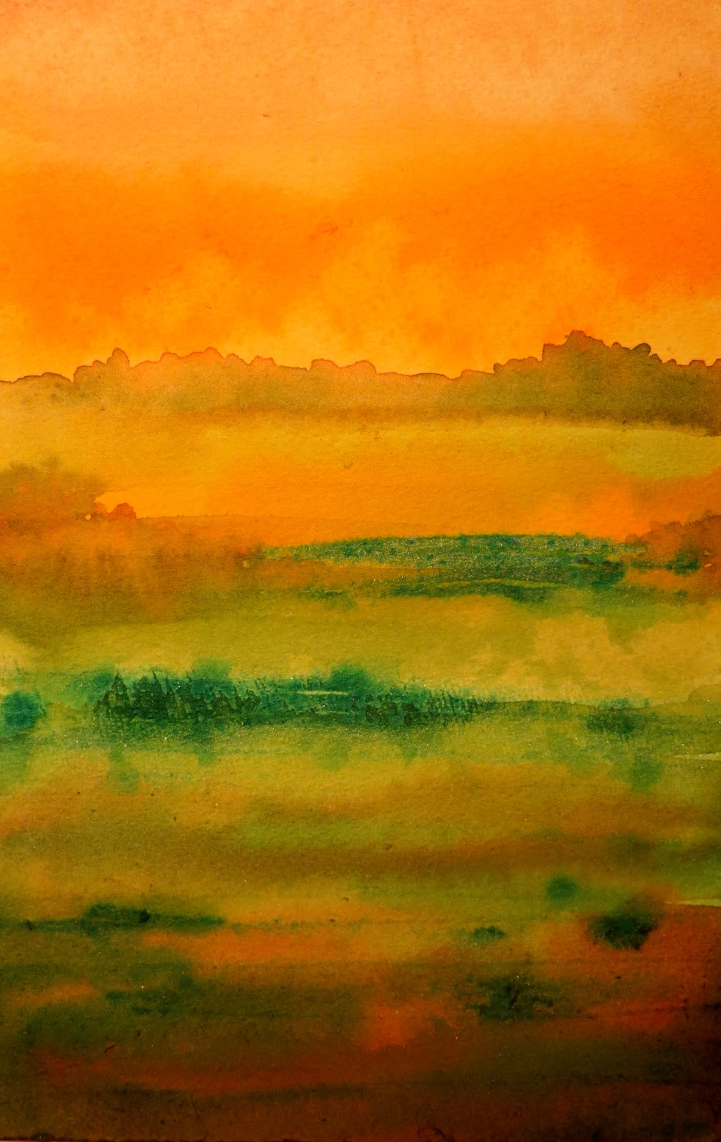 1010x1600 The Painted Prism Watercolor Workshop Painting An Abstract Landscape