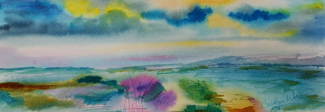 640x222 Watercolor Paintings And Mobiles By Carolyn Weir Wetlands