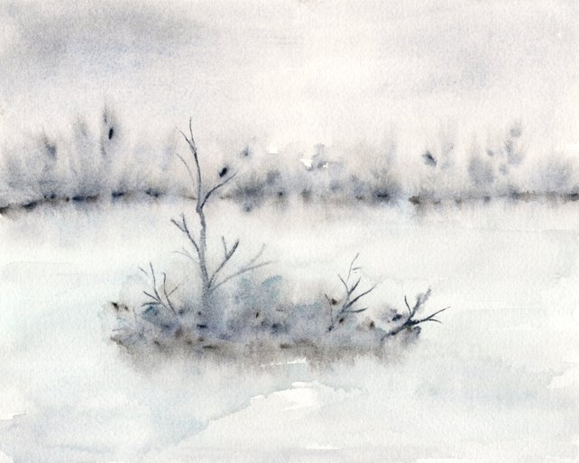 642x514 Watercolor Painting Abstract Watercolor Landscape Painting Etsy