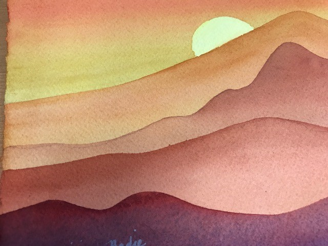 640x480 Abstract Landscape In Watercolor (One Day Workshop) Visarts