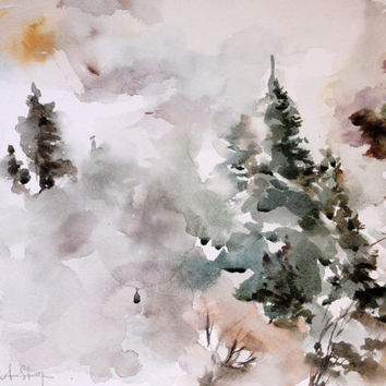 354x354 Best Winter Watercolor Paintings Products On Wanelo