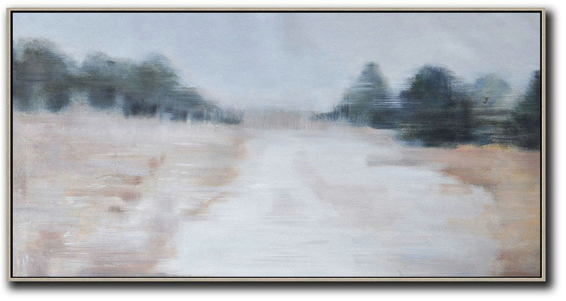 800x426 Extra Large Abstract Painting On Canvas,panoramic Abstract