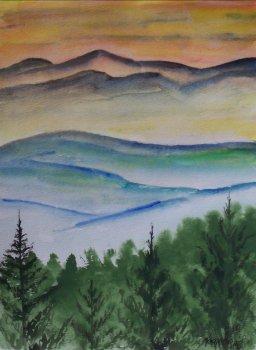 256x350 Landscape Watercolor Paintings