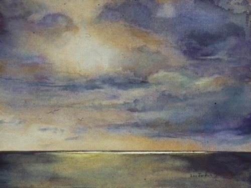 500x376 Lou Jordan Fine Art Transcendence Original Watercolor Abstract