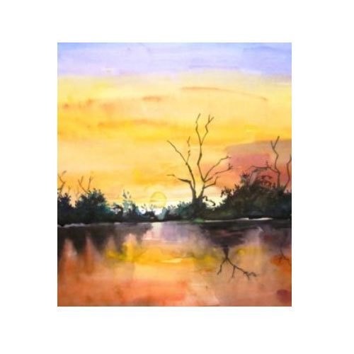 500x500 Watercolor Painting