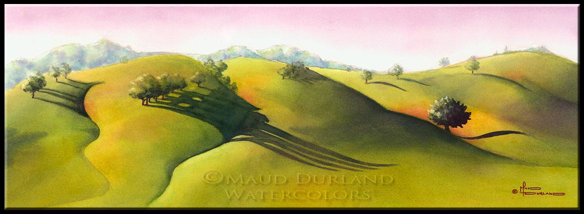 1167x427 Watercolor Landscape Paintings