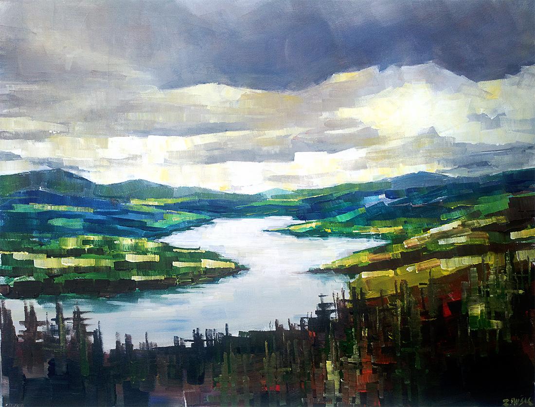 1100x838 Abstract Landscape Painting Zlatko Music Art