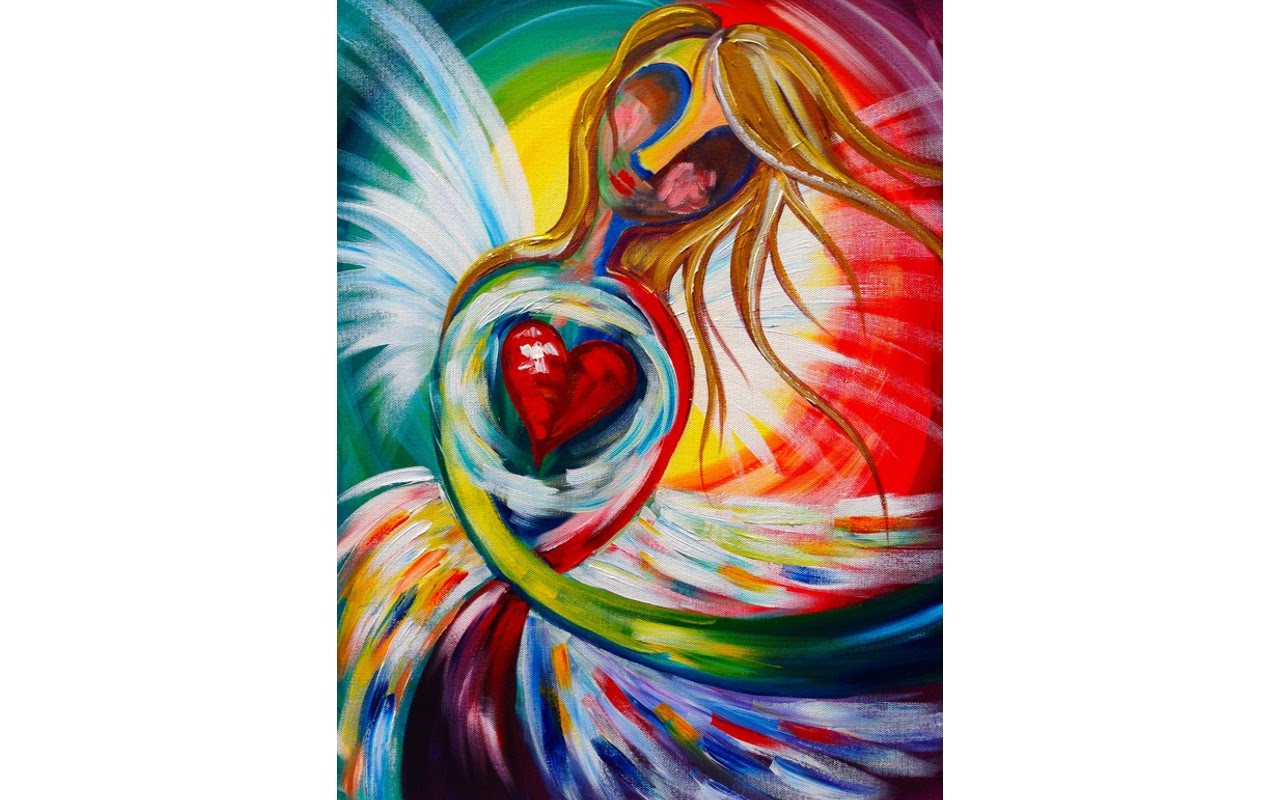 1280x800 Easy Beginners Acrylic Painting Abstract Angel The Art Sherpa